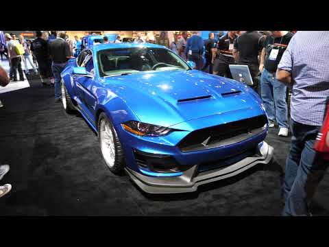 Walking Around Ford Booth at SEMA Show 2017 - 4k