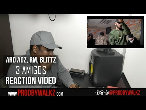 Ard Adz RM Blittz - 3 Amigos   Link Up TV REACTION RoadTo1KSubs