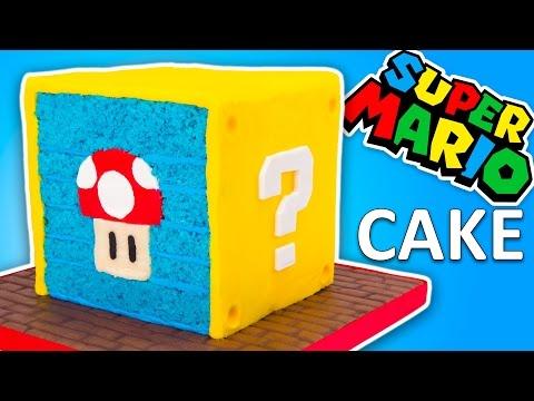 Nintendo Super Mario Cake Recipe (Question Block Cake From Super Mario Run)