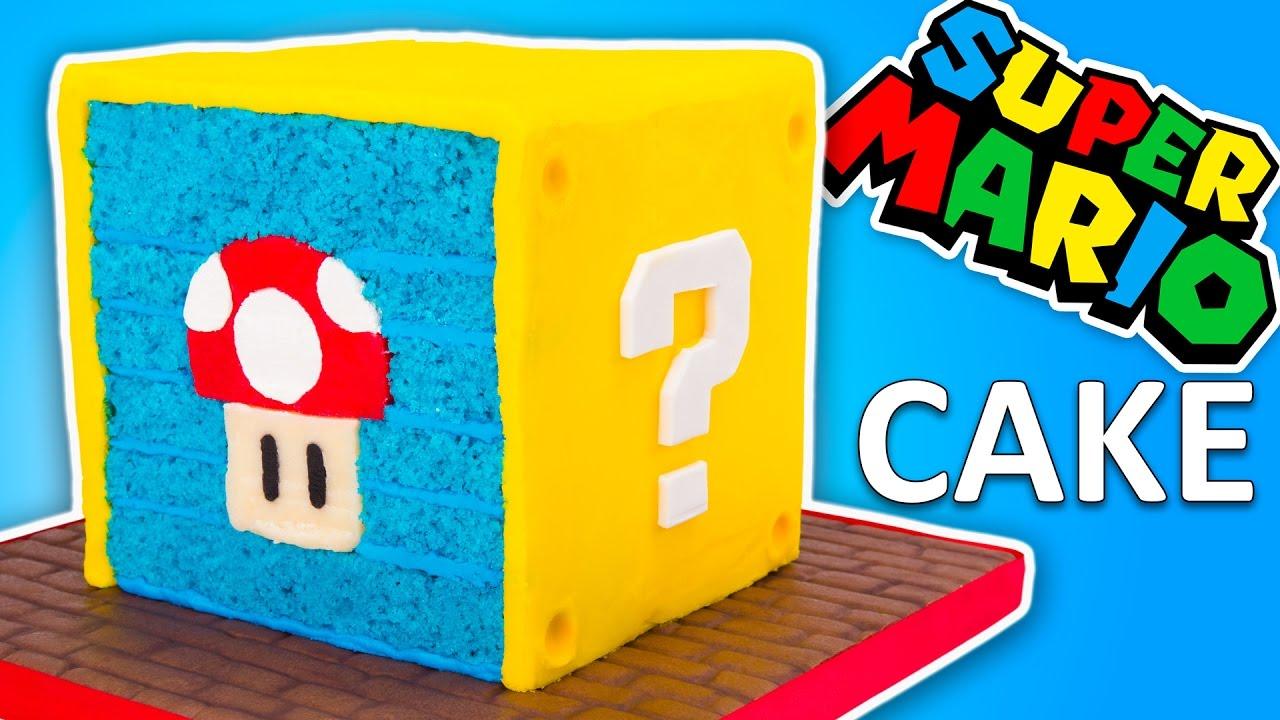 Nintendo Super Mario Cake Recipe Question Block Cake From
