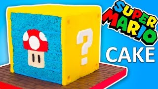 Nintendo Super Mario Cake Recipe (Question Block Cake from Super Mario Run)