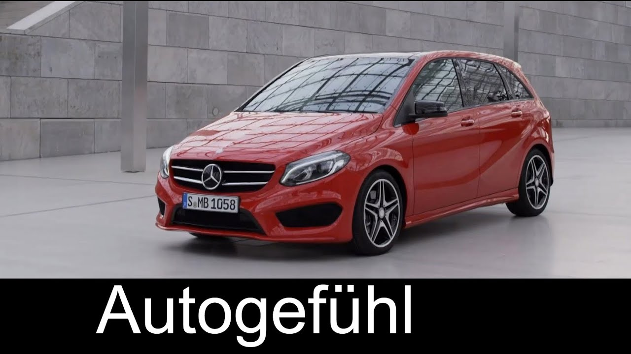 mercedes b class new amg line b250 4matic exterior interior mercedes b klasse facelift youtube. Black Bedroom Furniture Sets. Home Design Ideas