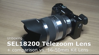 sony Tele Zoom SEL18200 vs. Kit Lens SELP1650 an Alpha 6000  18-200 mm F3.5-6.3 OSS, E-Mount APS-C