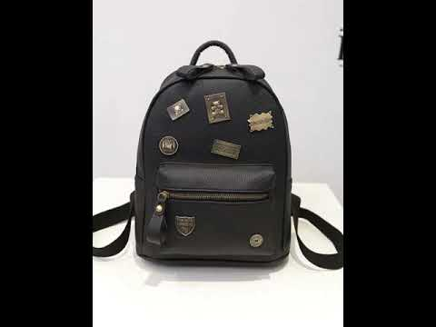 College fashion coat of arms backpack.avi