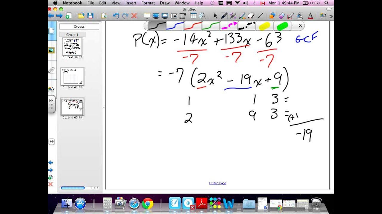 Solving Quadratic Equations By Factoring Grade 11 Mixed