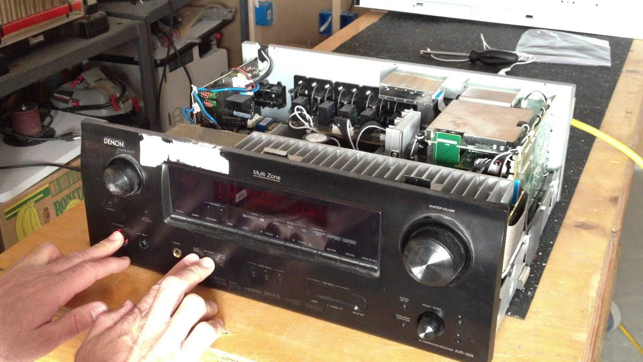 flashing red light problem denon avr 1609 youtube rh youtube com denon avr 300 manual denon avr-x3000 user manual