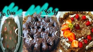 Gambar cover Chocolate Strawberry cake🍰|No Oven|No egg|Yummy Cake recipes|vedikajaokar|2020