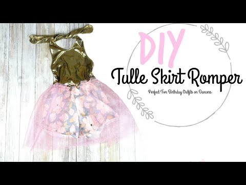 Diy Tulle Skirt Romper Perfect For Birthday Outfits Or Dancing