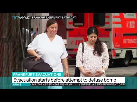 Thousands evacuate in Frankfurt before WWII bomb defused
