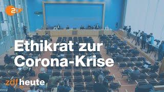 Der deutsche ethikrat äußert sich in bundespressekonferenz zur corona-krise.es nehmen teil peter dabrock (vorsitzender des deutschen ethikrates) und stef...