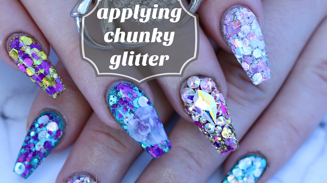 Nail Basics How To Work With Chunky Glitter