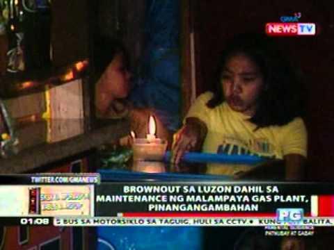 OC: Brownout sa Luzon dahil sa   maintenance ng Malampaya Gas plant,   pinangangambahan