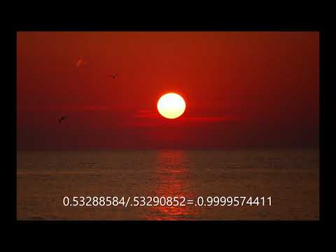 The sun does not change its apparent size. Debunking flat earth close and local sun thumbnail