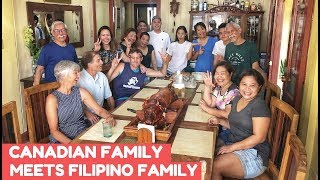 FILIPINO FAMILY And GIRLFRIEND Meet Canadians For First Time (LECHON LUNCH)