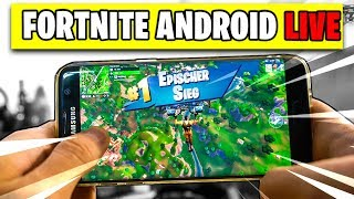 Fortnite ANDROID 📱 Live GAMEPLAY | Fortnite Mobile Beta Deutsch German