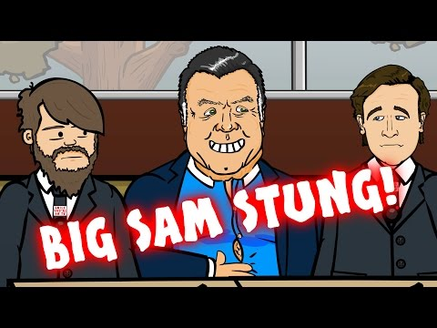 BIG SAM STUNG - exclusive Allardyce video footage by The 442oons Telegraph! (PARODY)