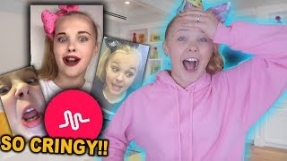 REACTING TO MY OLD MUSICAL.LYS!! (so cringy)