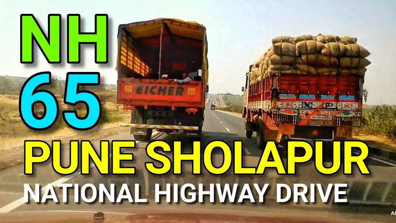 Pune Sholapur Highway Pandharpur to Pune National Highway No.65 traffic less road trip -2