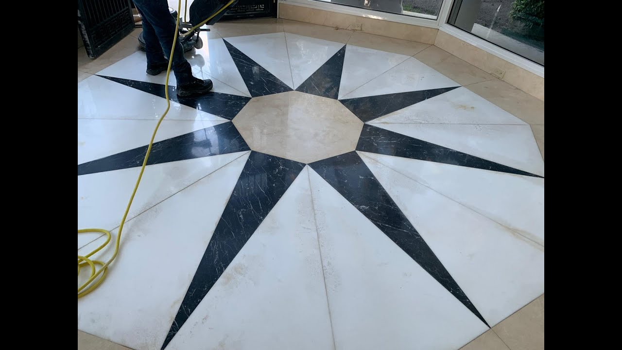 Terrazzo Floor Stain Removal Youtube