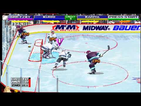 2 On 2 Open Ice Challenge: Los Angeles Kings Vs. Anaheim Mighty Ducks Arcade (MAME)