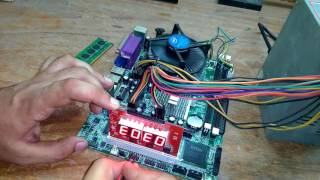 Motherboard Repairing in हिंदी with Diagnostic Card Fault Finding Part-1