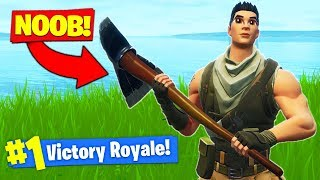 USING A NOOB TO *WIN* Fortnite Battle Royale!
