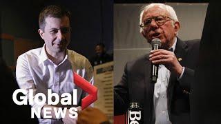 Gambar cover Nevada Caucus: Bernie Sanders, Pete Buttigieg speak following Sanders projected win