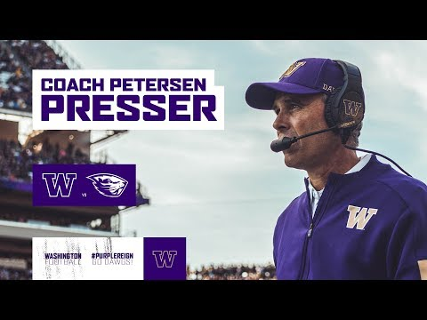 FB: Chris Petersen Press Conference (Oregon State Week)