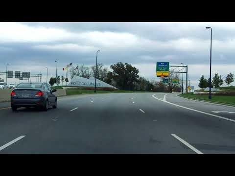 John Glenn/Columbus International Airport Access Road inbound