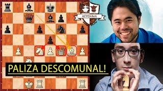 La partida MÁS BRILLANTE Y ÉPICA de Fabiano Caruana vs Nakamura!