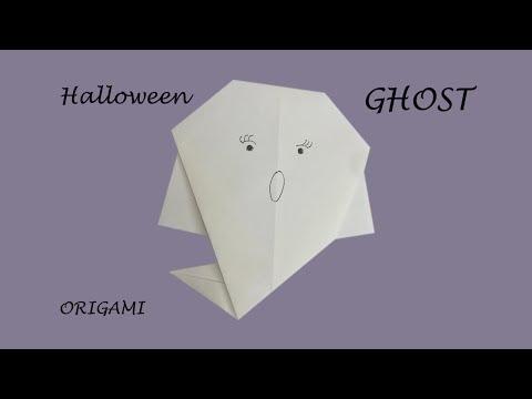 Ghost - Fun DIY easy origami Halloween decoration