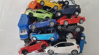 box full of cars, bburago cars, welly cars and another cars
