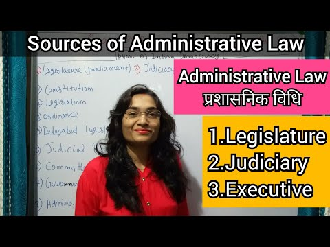 Source of Administrative Law in hindi/Concept of Administrativ Law #AdministrativeLaw #प्रशासनिकविधि