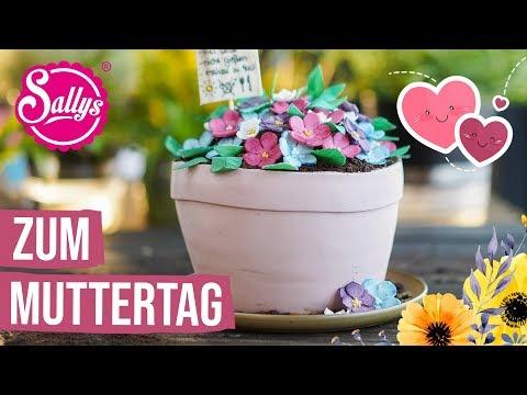 Muttertagstorte // essbarer 3D Blumentopf // Schokotorte // Sallys Welt