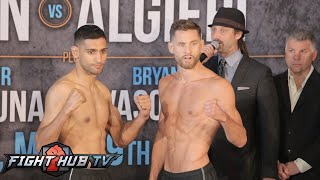 Amir Khan vs. Chris Algieri Full Video- COMPLETE Weigh in / Face Off