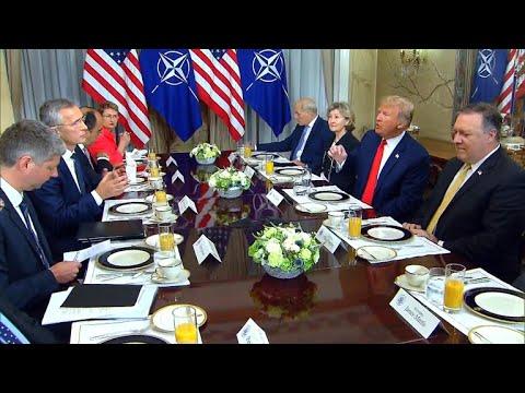 Trump starts NATO summit by slamming U.S. allies