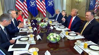 Trump starts NATO summit by slamming U.S. allies