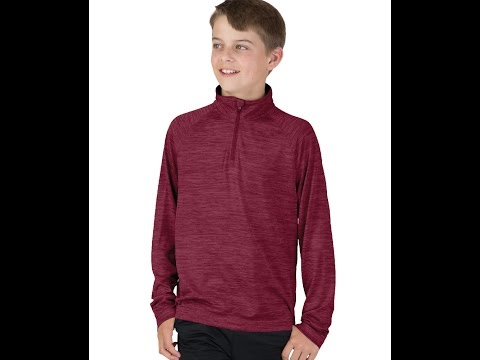 Charles River Apparel Style 8763 Youth Space Dye Performance Pullover Top
