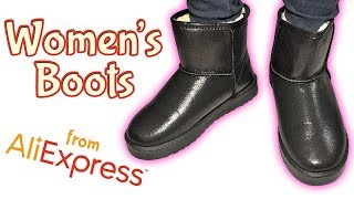 Women's Short Winter Boots Unboxing Haul from Aliexpress