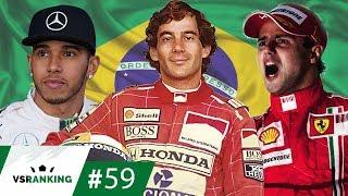 OS 10 MAIORES MOMENTOS DO GP DO BRASIL DE F1 - VSRANKING #59 - Com Senna, Rubinho, Massa e etc