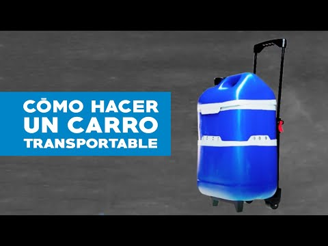C mo hacer un carro transportable youtube for Carros de madera para jardin