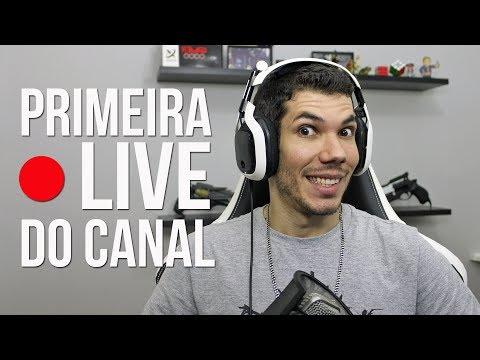 PRIMEIRA LIVE DO CANAL!   Bate-Papo no Cenário Novo!