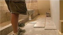 Bathroom Tiling : How to Install 12 x 12 Tiles on Bathroom Floor