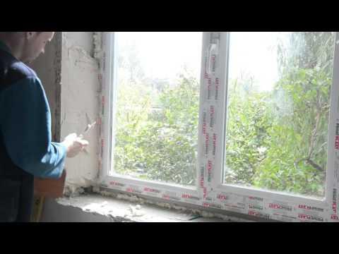 видео: Откосы на окна своими руками С гипсовой штукатурки при помощи самодельного лекала