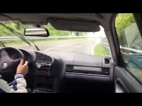 BMW E36 320i drift training and fail