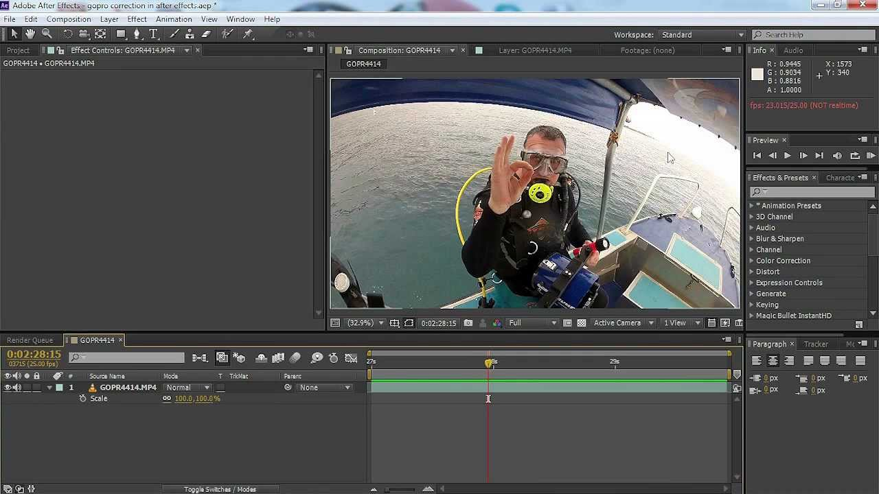 Go pro pov camera fish eye distortion video correction for Fish eye effect