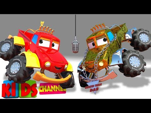 Car Cartoons - Monster Truck Dan + More Vehicle Videos for Kids