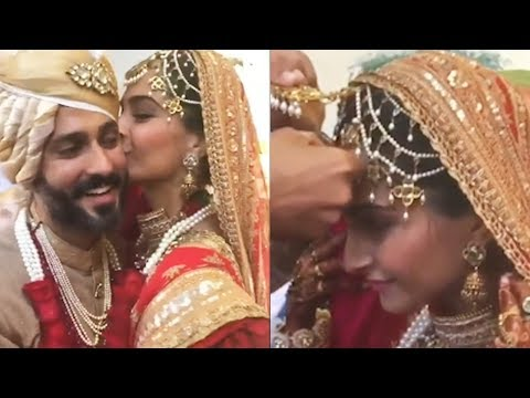 Inside Video: Anand Ahuja Fills Sonam Kapoor's Maang With Sindoor And Sonam Gives Him A Kiss Of Love