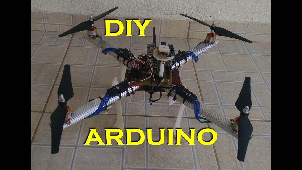 teste drone diy com arduino nano 328p multiwii fpv e gps [ 1280 x 720 Pixel ]