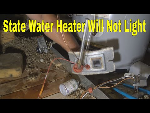 State Brand Name Water Heater In Attic Will Not Lite  👍👍👍